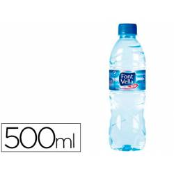 Agua mineral natural Font Vella botella de 500 ml