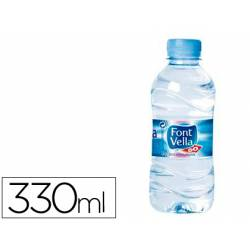 Agua mineral natural Font Vella botella de 330 ml