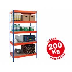 Estantería AR Storage metálica 5 estantes 200 kg
