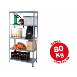 Estantería AR Storage metálica 5 estantes 80 kg