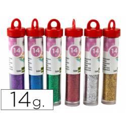 Purpurina colores metalicos 24 botes de 14 gr.Colores surtidos. No se pueden seleccionar.