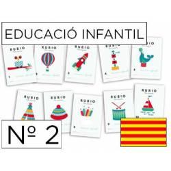 Cuaderno Rubio Educació Infantil nº 2 Desarrollo motriz Catalán