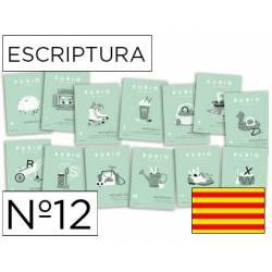 Cuaderno Rubio Escriptura nº 12 Mejorar la letra y ortografía Catalán