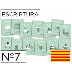 Cuaderno Rubio Escriptura nº 7 Mayúsculas, dibujos, números y grecas Catalán