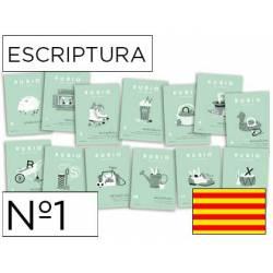 Cuaderno Rubio Escriptura nº 1 Minúsculas, dibujos, números y grecas Catalán