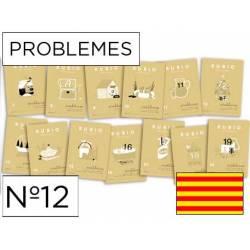 Cuaderno Rubio Problemes nº 12 Sumar, restar y multiplicar por una cifra Catalán