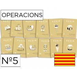 Cuaderno Rubio Operacions nº 5 Sumar, restar, multiplicar y dividir por varias cifras en Catalán