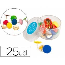Chinchetas Liderpapel plastificadas caja de 25 unidades