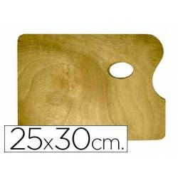 Paleta madera Artist rectangular tamaño 258x30x0,05 cm