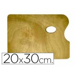 Paleta madera Artist rectangular tamaño 20x30x0,05 cm