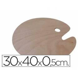 Paleta madera Artist ovalada tamaño 30x40x0,05 cm