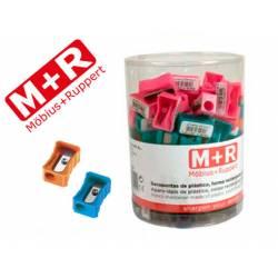 Sacapuntas mor 304 plastico rectangular un uso colores surtidos