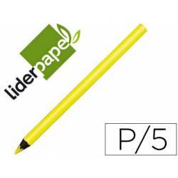Lapices de colores Liderpapel Jumbo neón amarillo triangular