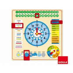 Juego educativo Reloj calendario Diset