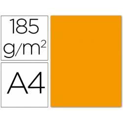 Cartulina Guarro din A4 mandarina 185 gr paquete 50 hojas