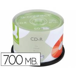 Cd-r q-connect 700mb duracion 80min velocidad 52x bote de 50 unidades