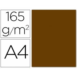 Papel color Liderpapel marron A4 165g/m2 9 hojas
