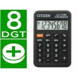 Calculadora bolsillo Citizen lc-110 negra 8 digitos