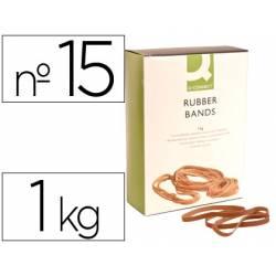 Bandas elasticas Q-connect 1000 gr 150 x 9 mm numero 15