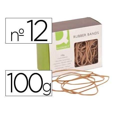 Gomillas elasticas Q-connect 100 gr numero 12