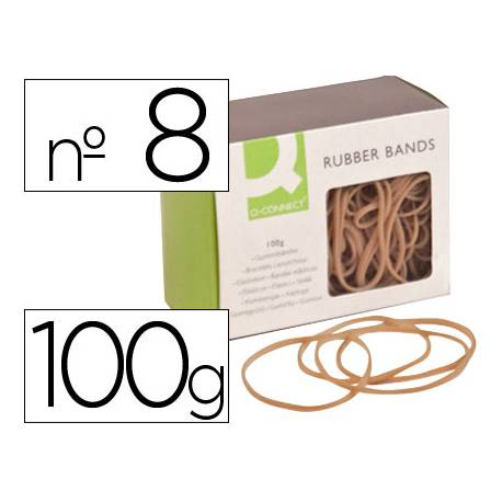 Gomillas elasticas Q-connect 100 gr numero 8