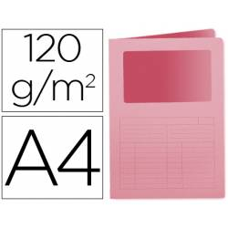 Subcarpeta cartulina Q-Connect Din A4 rosa