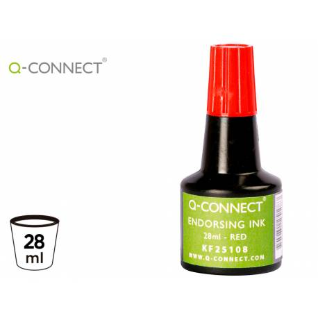 Tinta tampon Q-connect rojo 28 ml