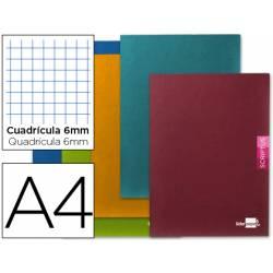 Libreta escolar Scriptus Liderpapel cuadricula 6mm tamaño DIN A4 48 hojas