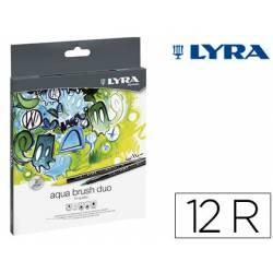 Rotulador Lyra Duo Art Pen doble punta fina y gruesa caja de 12 unidades