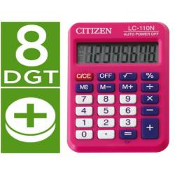 Calculadora bolsillo Citizen LC-110N fucsia 8 digitos