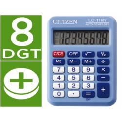 Calculadora bolsillo Citizen LC-110N celeste 8 digitos
