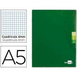 Libreta escolar Liderpapel Scriptus verde cuadricula 4mm tamaño DIN A5