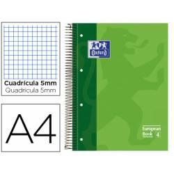 Bloc espiral Oxford Din A-4 extradura microperforado verde