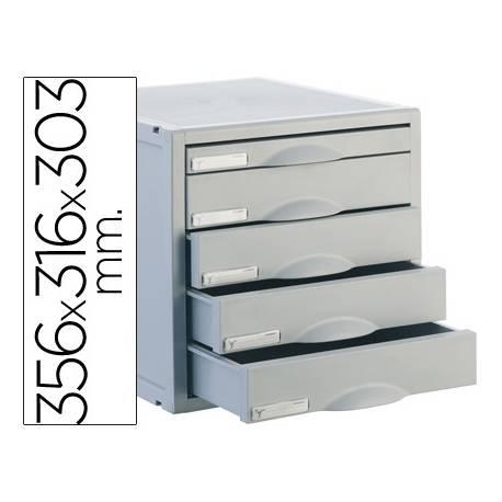 Modulo 5 cajones sobremesa Archivo 2000 gris