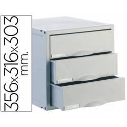 Fichero cajones de sobremesa Archivo 2000 archisystem 356x316x303 mm 3 cajones color gris