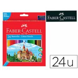Lapices de colores Faber-Castell hexagonal caja 24 unidades