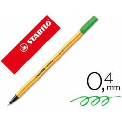 Rotulador Stabilo point 88/96 Verde pino