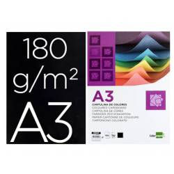 Cartulina Liderpapel negro a3 180 g/m2