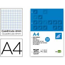 Recambio extrafuerte Liderpapel A4 4mm