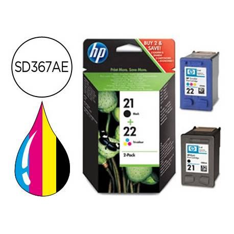 Cartucho combo HP 21 y 22 SD367AE