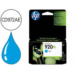 Cartucho HP 920XL Cian CD972AE