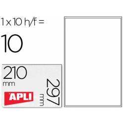 10 Etiquetas Transparentes Apli DIN A4