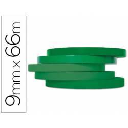 Cinta precintadora adhesiva Q-Connect 66mx9mm verde