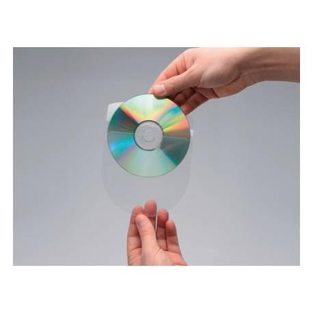 Funda autoadhesiva CD Q-Connect con solapa