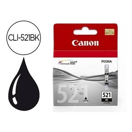 Cartucho Canon 2933B001 Nº CLI-521BK Negro