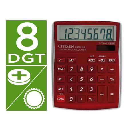 Calculadora Sobremesa Citizen CDC-80RDWB 8 digitos