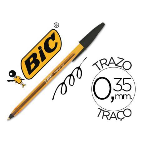 Boligrafo Bic Cristal Naranja color negro 0.30 mm