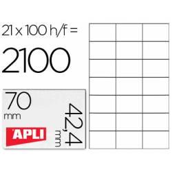 Etiquetas Adhesivas Apli 70 x 42,4 mm