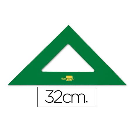 Escuadra acrilica Liderpapel 32cm color Verde