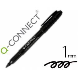 Rotulador Q-Connect permanente color negro para CD/DVD con punta redonda 1mm